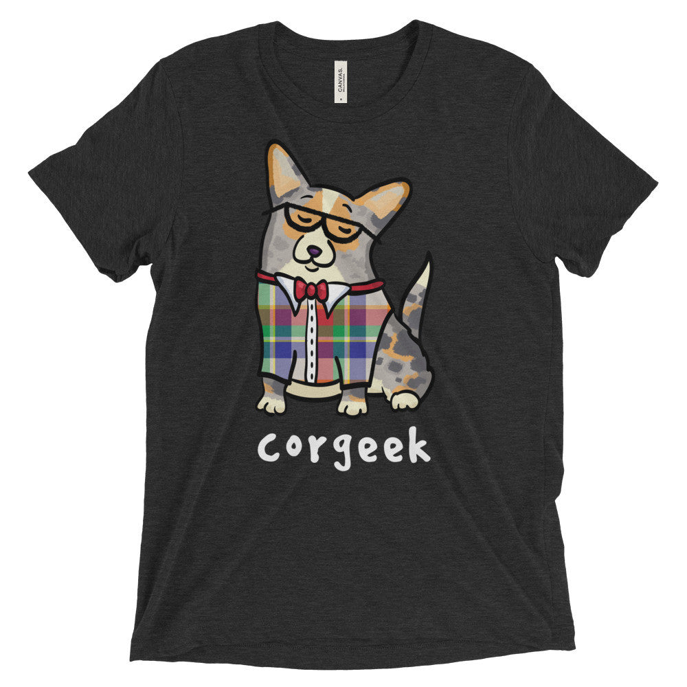 Corgeek - Merle/tan with tail - Unisex Corgi Shirt
