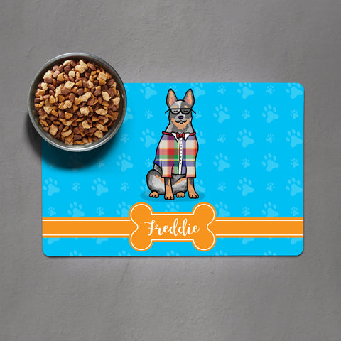 Australian Cattle Dog - Blue Heeler Pet Bowl Mat