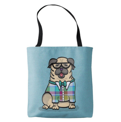 Pug Geek - Pug Tote Bag - No Text