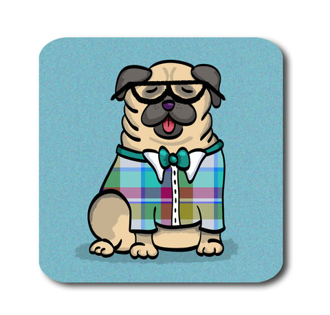 Pug Geek - Pug Coasters - Set of 4