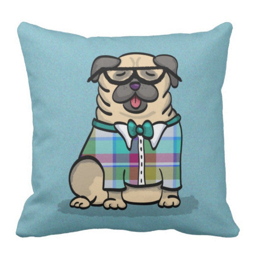 Pug Geek - Pug Pillow
