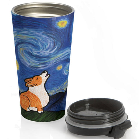 Starry Baroo - Corgi Stainless Steel Travel Mug - Pembroke or Cardigan