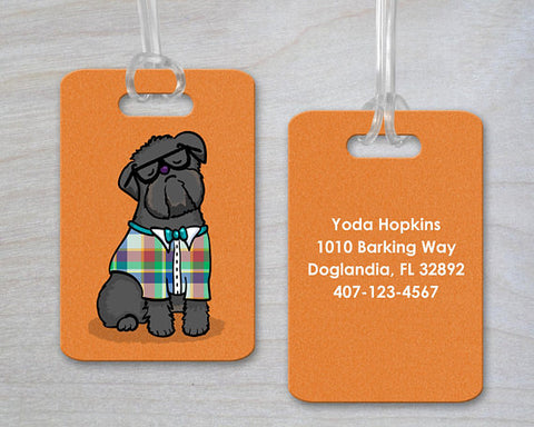 Personalized Brussels Griffon Luggage Tag