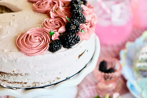 Good Dee's Blackberry Lime Coconut Cake