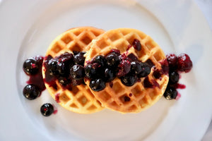 Good Dee's Blueberry Sauced Waffles