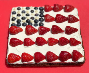 Chef Taffiny's Red White Blue Blondies!