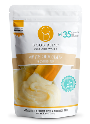 White Chocolate Just Add Water Frosting - Close to expiry: Still Good!- Low carb, Keto Friendly, Gluten Free, Sugar Free