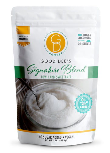 Good Dee's Signature Sweetener Blend – Allulose and Monkfruit, 1:1 Sugar Substitute, 0 carbs