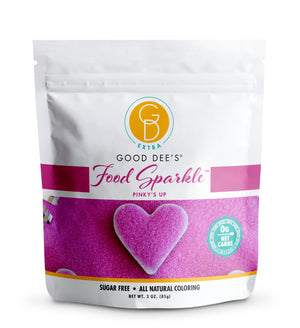Good Dee's Sugar Free Food Sparkle - Keto Friendly, Sugar Free, All Natural Coloring and 0 Net Carbs