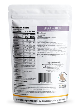 Sugar Free Cookie - Close to expiry: Still Good! Low carb, Keto friendly, Sugar Free, Gluten free, 2g net carbs