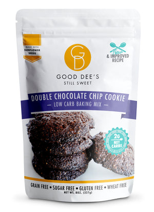 Good Dee's Double Chocolate Chip Cookie Mix -  Low carb, Keto friendly, Sugar free, Gluten free