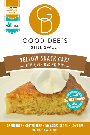 New-Almond Flour Yellow Snack Cake Mix! Low carb, Sugar Free, Gluten Gree and Grain free!