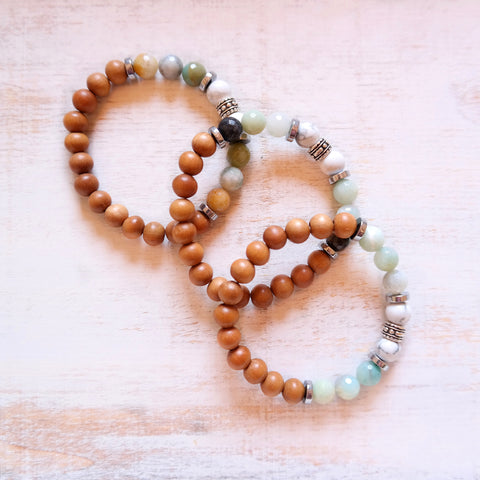Amazonite Bracelet with Cowrie Shell - Life Bracelet