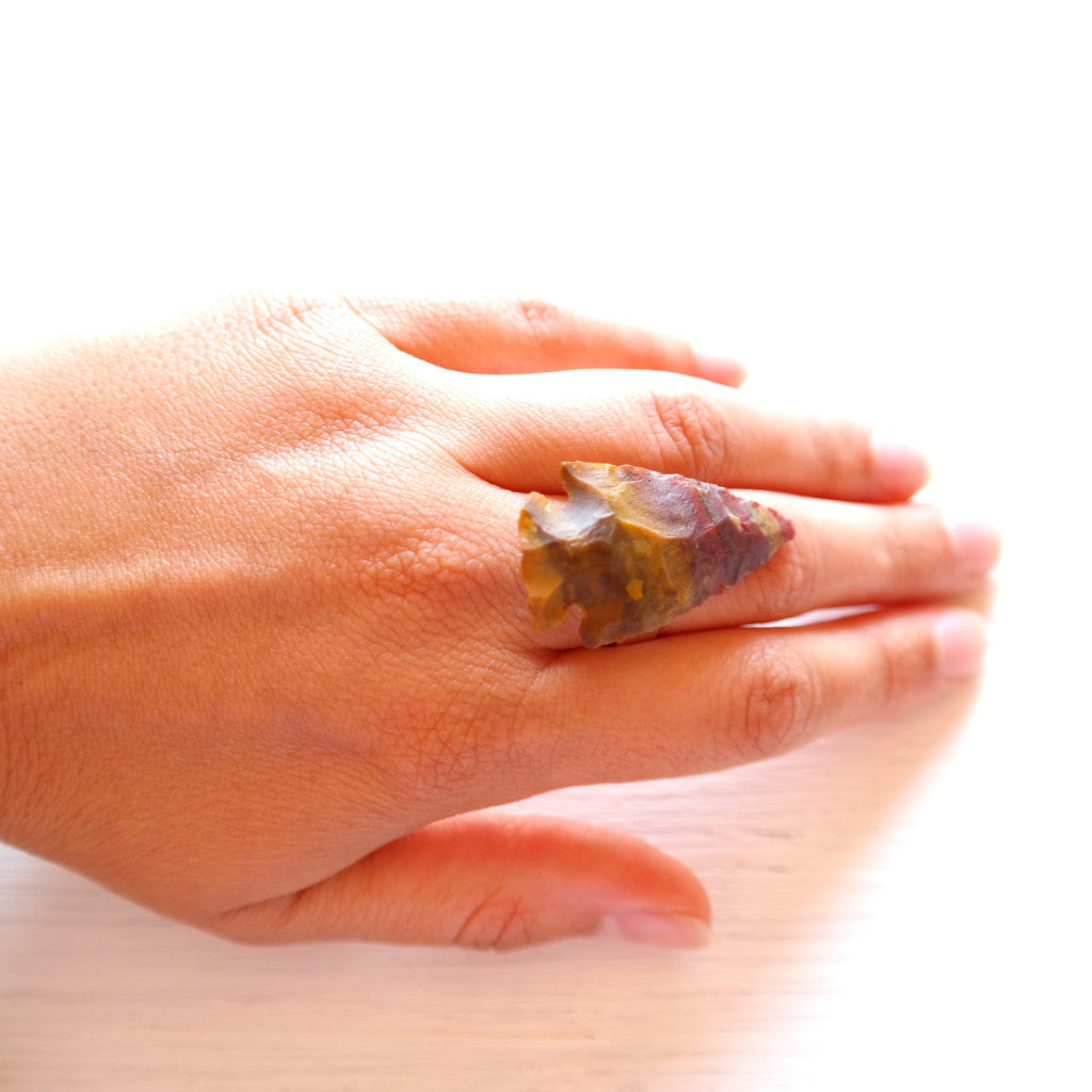 Agate Arrowhead Ring - Gypsy Soul Jewellery  - 2