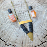 Tribal Triangle Necklace - Gypsy Soul Jewellery  - 2