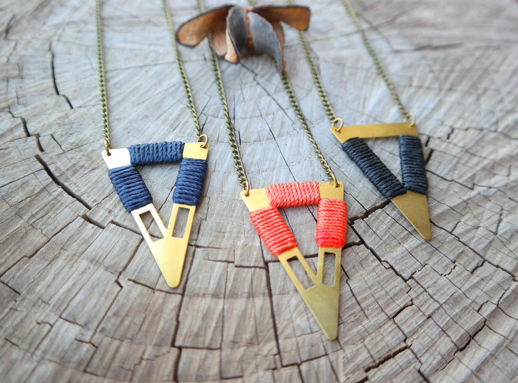 Tribal Triangle Necklace - Gypsy Soul Jewellery  - 7