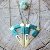 Tribal Triangle Necklace - Gypsy Soul Jewellery  - 1
