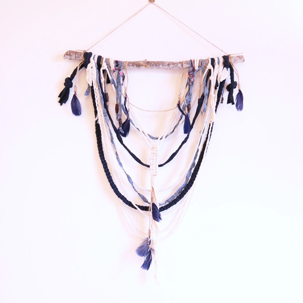 Blue Boho Wall Hanging - Gypsy Soul Jewellery