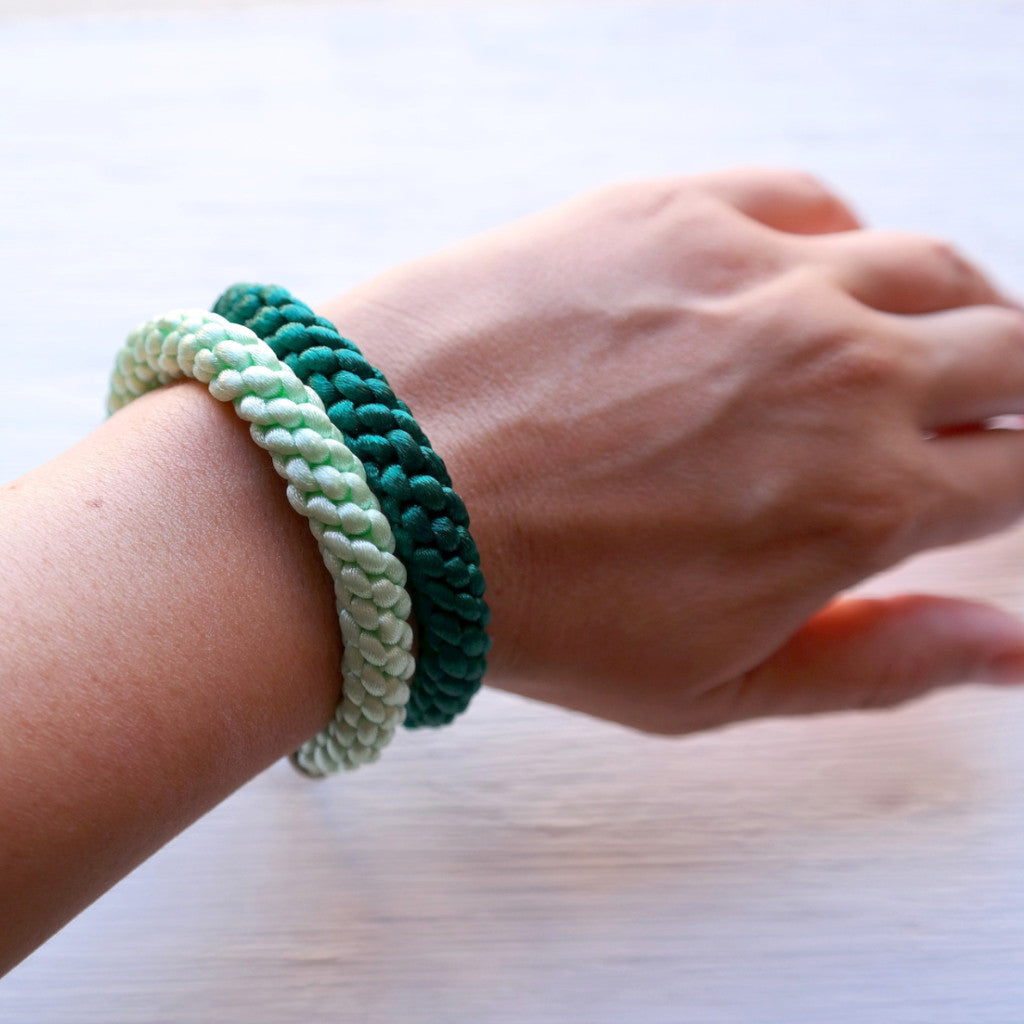 Braided Satin Cord Bracelet - Gypsy Soul Jewellery  - 3