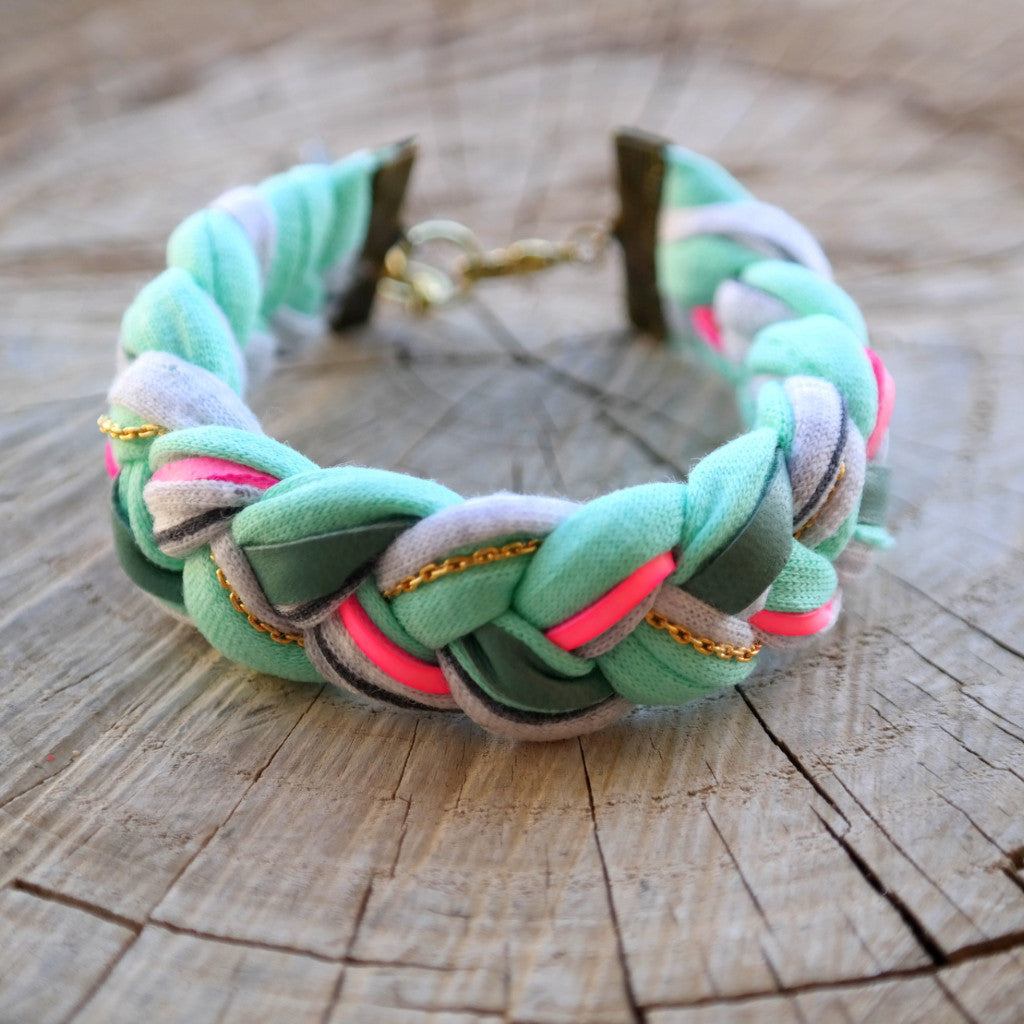 Braided Jersey Bracelet - Gypsy Soul Jewellery  - 5