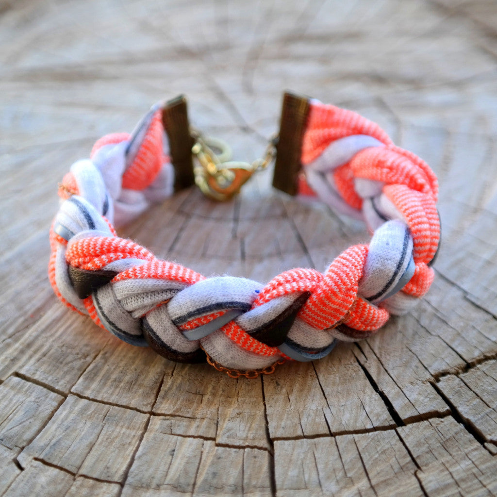 Braided Jersey Bracelet - Gypsy Soul Jewellery  - 6