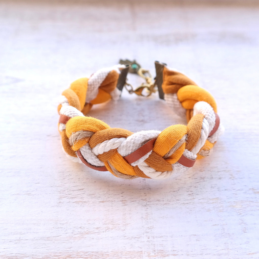 Braided Jersey Bracelet - Gypsy Soul Jewellery  - 1