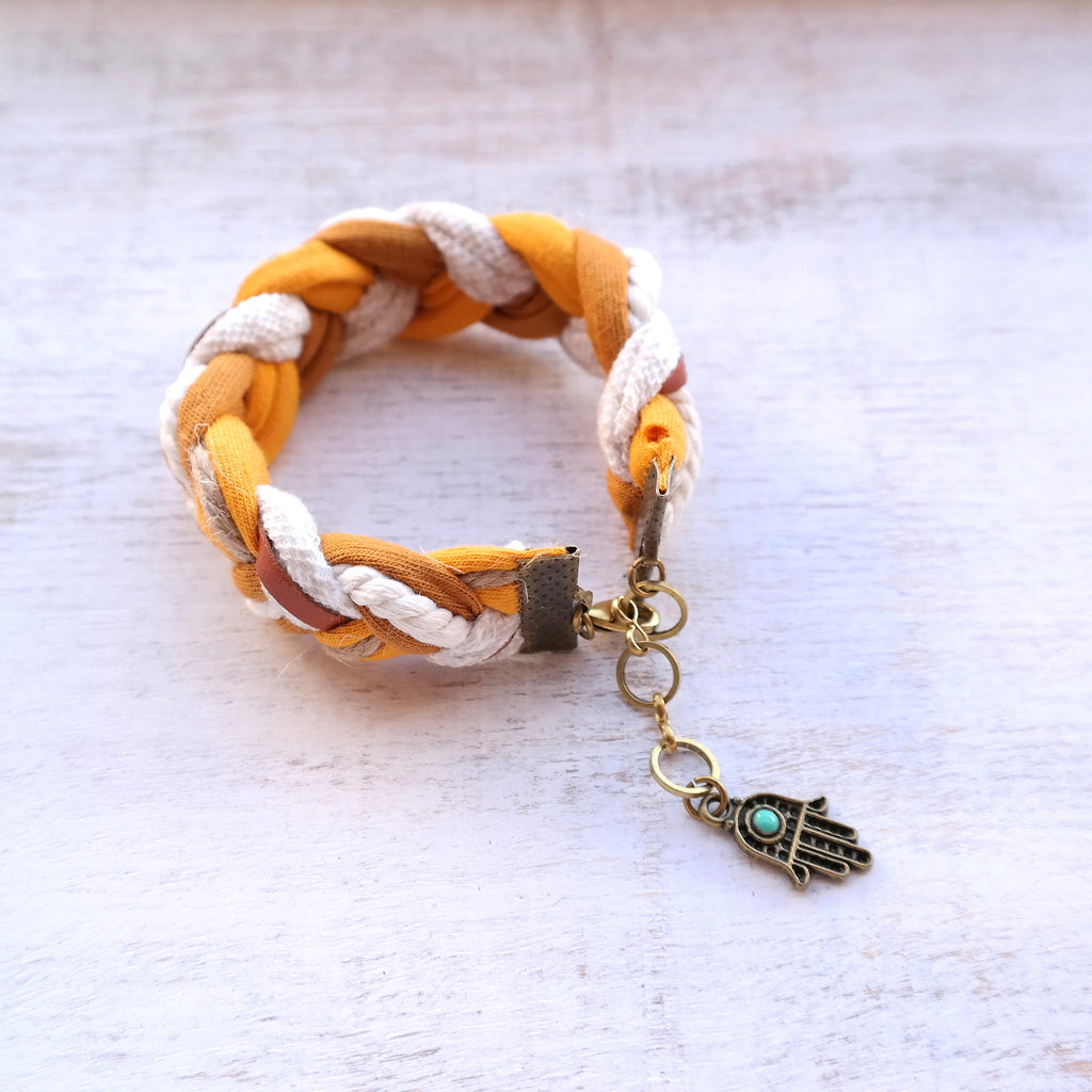 Braided Jersey Bracelet - Gypsy Soul Jewellery  - 2