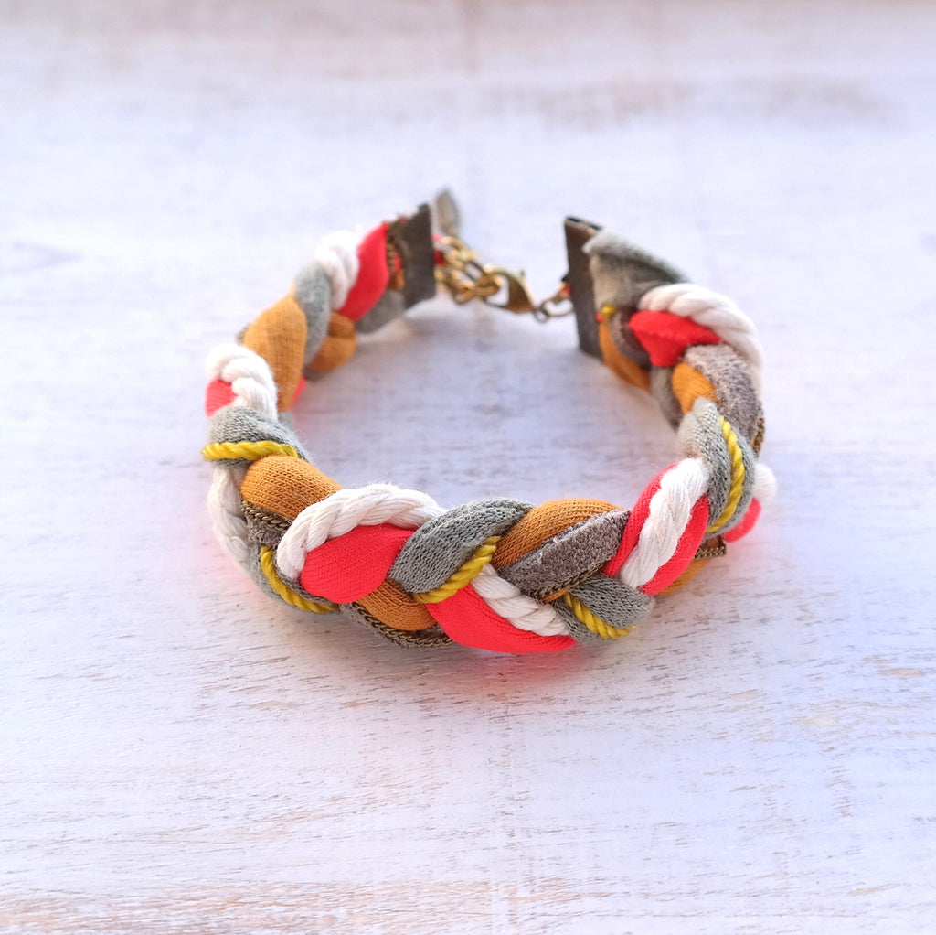 Braided Jersey Bracelet - Gypsy Soul Jewellery  - 3
