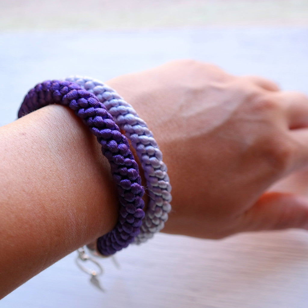 Braided Satin Cord Bracelet - Gypsy Soul Jewellery  - 4