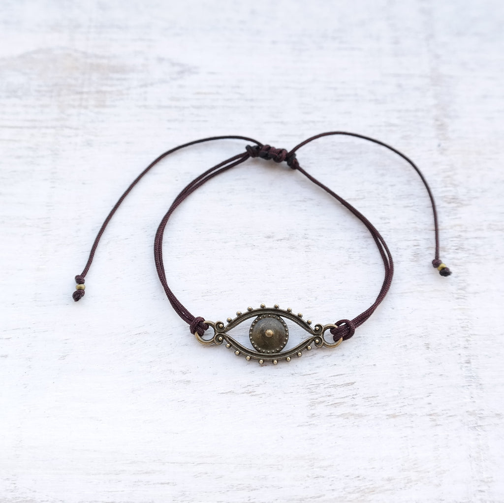 Evil Eye Bracelet - bronze - Gypsy Soul Jewellery  - 4