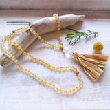 Citrine Mala Beads - Manifestation Mala Necklace
