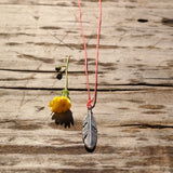 Beach Feather Charm Necklace - Gypsy Soul Jewellery  - 3