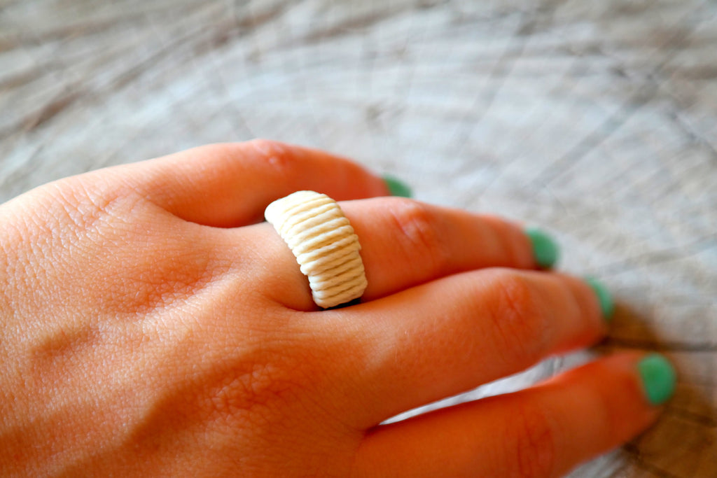 Wrapped Ring - Antique Gold - Gypsy Soul Jewellery  - 7