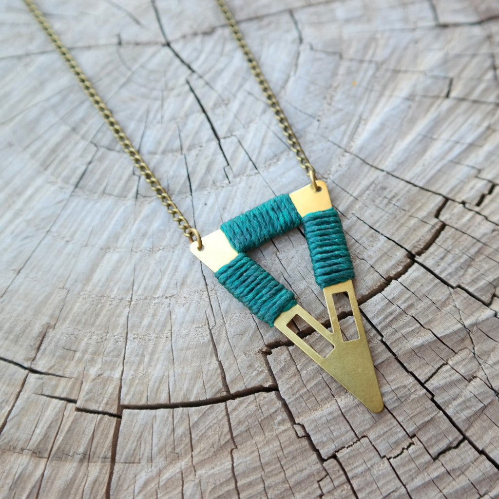 Tribal Triangle Necklace - Gypsy Soul Jewellery  - 4