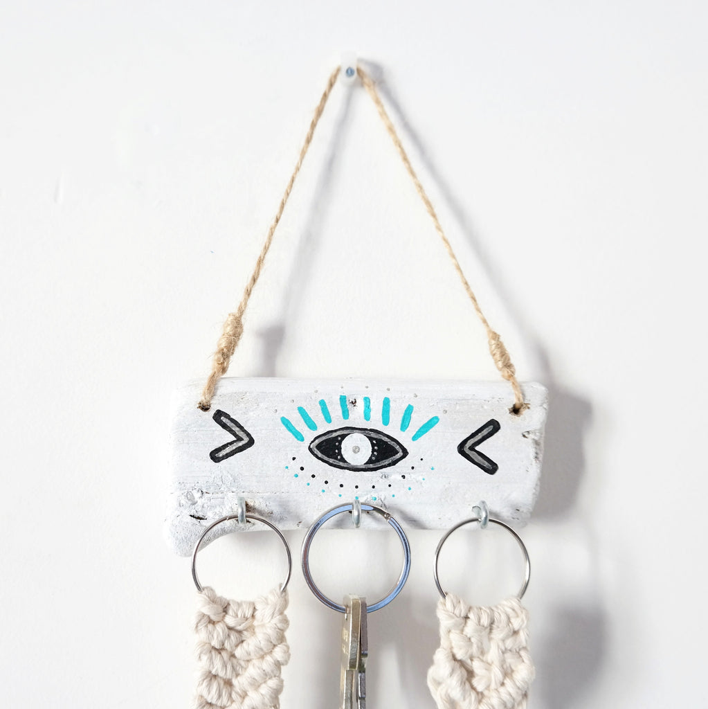 Driftwood Jewellery Holder - Evil Eye Protection - Gypsy Soul Jewellery  - 1