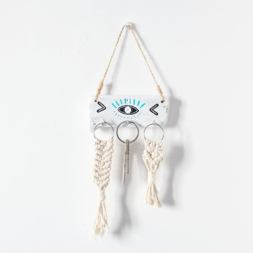 Driftwood Jewellery Holder - Evil Eye Protection - Gypsy Soul Jewellery  - 3