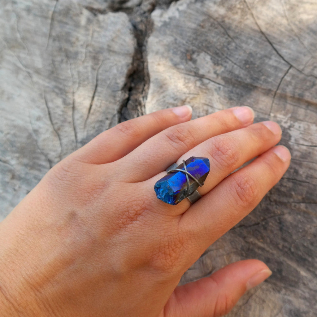 Flame Aura Quartz Ring - Gypsy Soul Jewellery  - 3