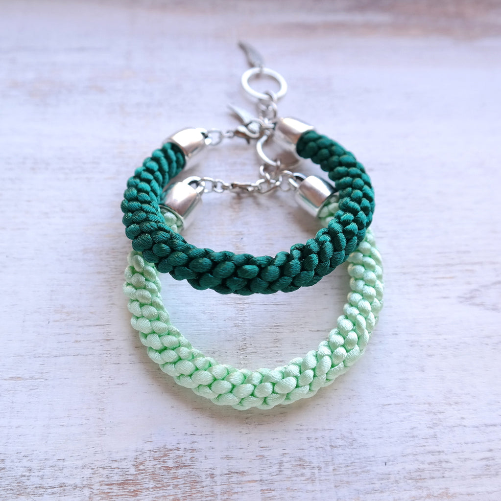 Braided Satin Cord Bracelet - Gypsy Soul Jewellery  - 1