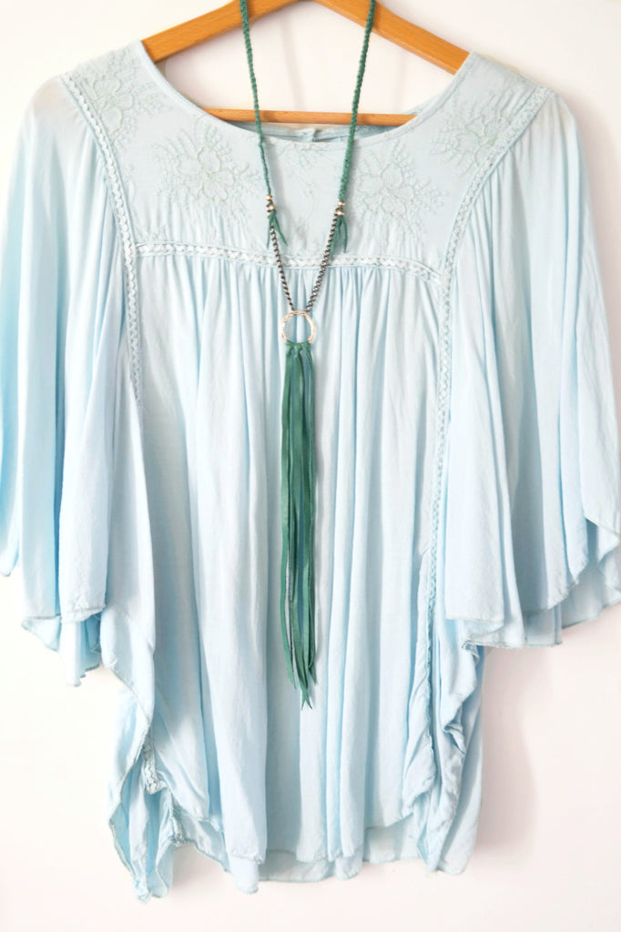 Ultra Long Karma Leather Fringe Necklace - Gypsy Soul Jewellery  - 3