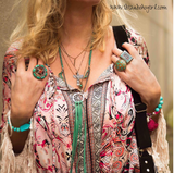 Ultra Long Karma Leather Fringe Necklace - Gypsy Soul Jewellery  - 2