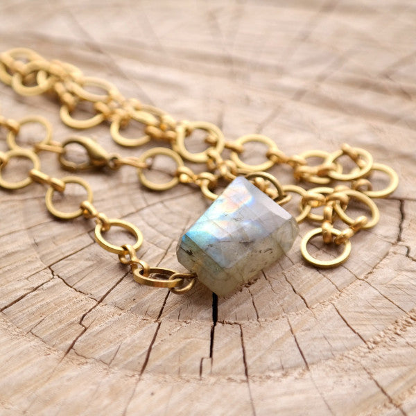 Labradorite Choker Necklace - Gypsy Soul Jewellery  - 3
