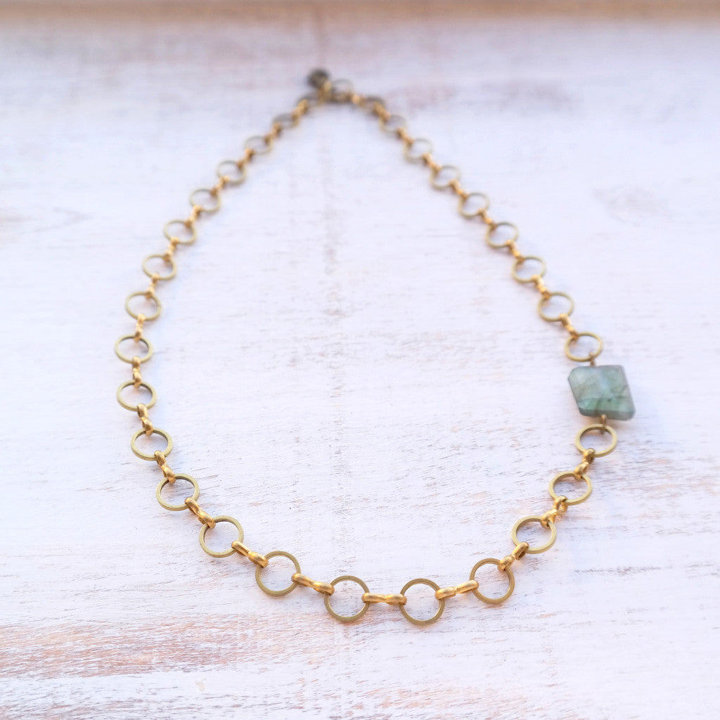 Labradorite Choker Necklace - Gypsy Soul Jewellery  - 1
