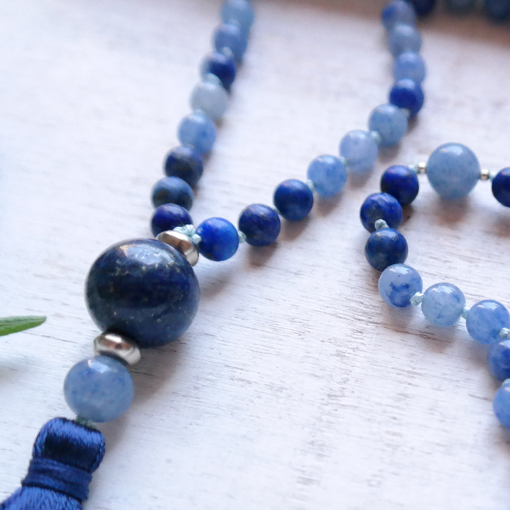 Lapis Lazuli & Blue Aventurine Mala - Self Awareness Mala