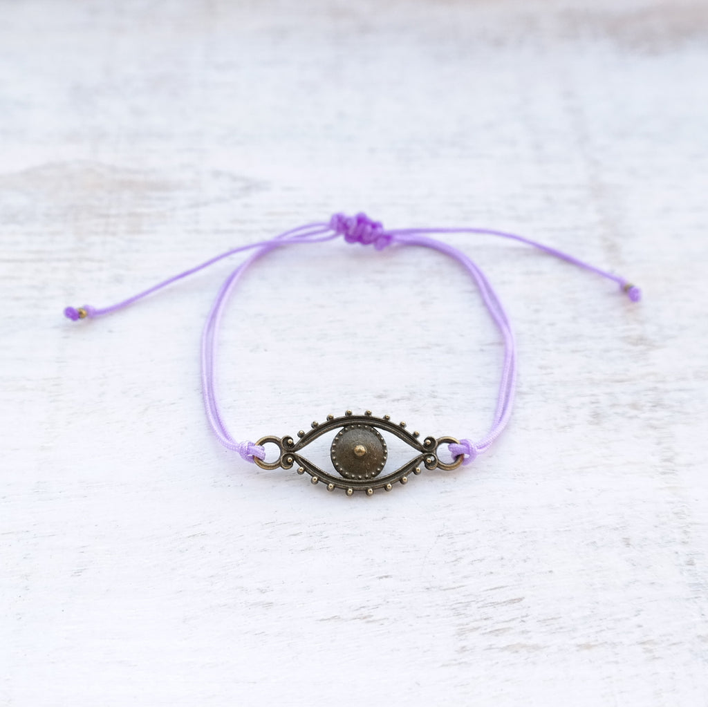 Evil Eye Bracelet - bronze - Gypsy Soul Jewellery  - 5
