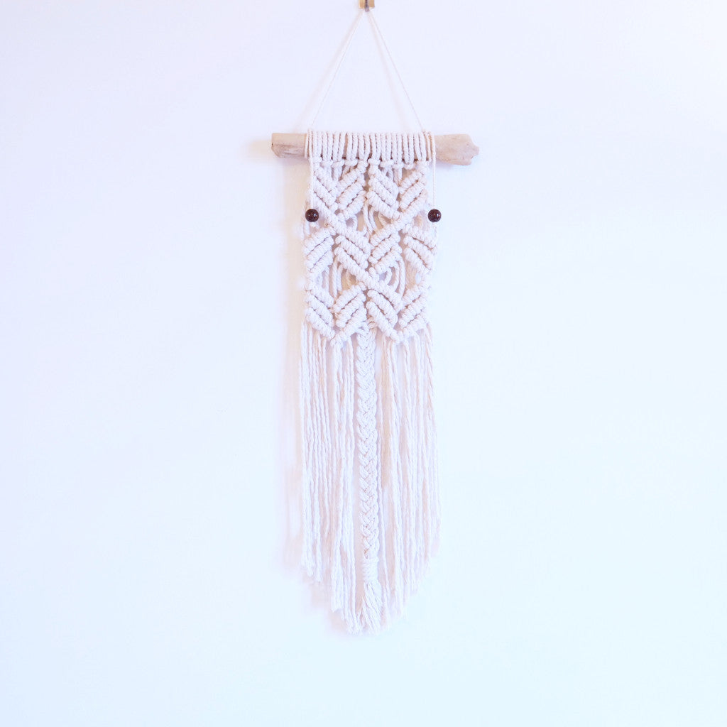 Macramé Wall Hanging on Driftwood - Gypsy Soul Jewellery