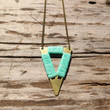 Short Tribal Triangle Necklace - Gypsy Soul Jewellery  - 4