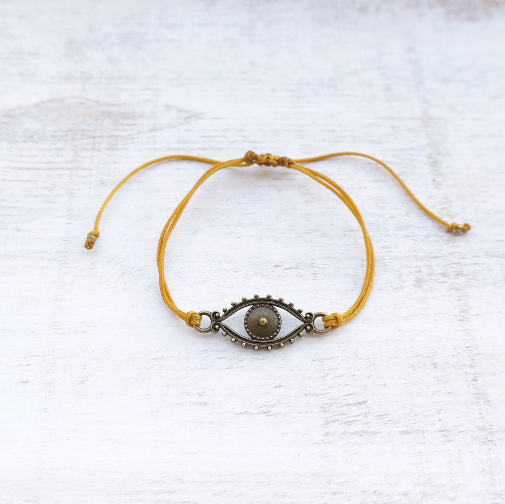 Evil Eye Bracelet - bronze - Gypsy Soul Jewellery  - 6
