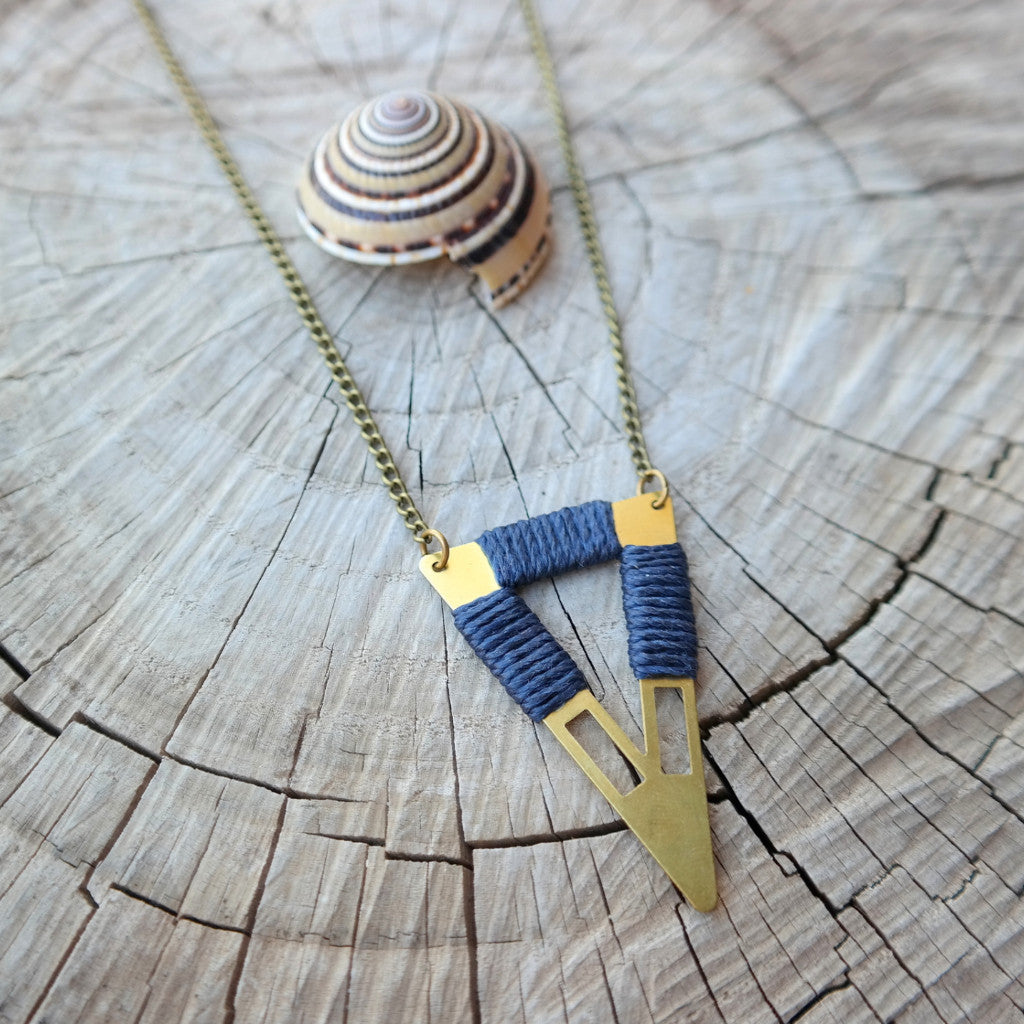 Tribal Triangle Necklace - Gypsy Soul Jewellery  - 5