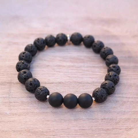 Onyx Protection Bracelet with Hand of Fatima