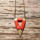 Short Tribal Triangle Necklace - Gypsy Soul Jewellery  - 5